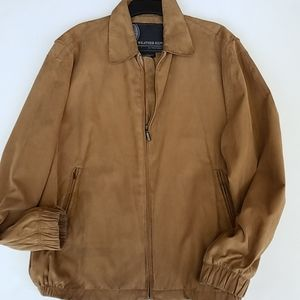 Weather Report jacket large tan mens